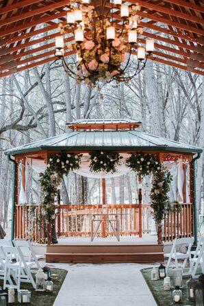 Winter Wonderland Gazebo Ceremony