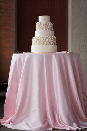 Handcrafted Flower-Adorned Wedding Cake