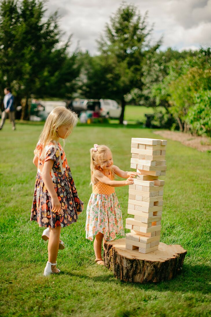 Jenga at Wedding in Stowe, Vermont