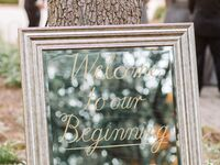 Wedding mirror signs - mirrored welcome sign