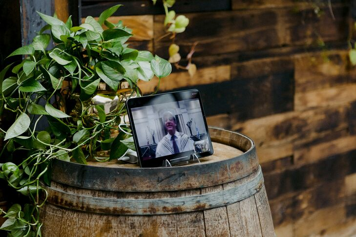 Officiant on Live Stream at Brooklyn, New York, Elopement
