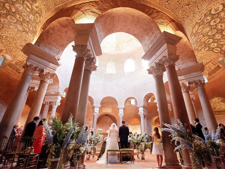 Tenuta dell'Olmo wedding ceremony in Rome, Italy