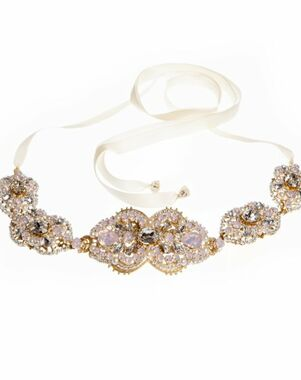 MEG Jewelry Tabitha headband and belt Wedding  photo