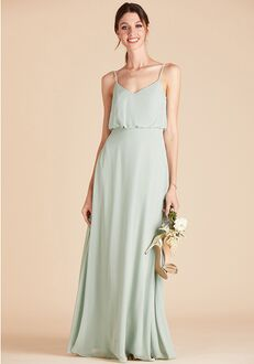 Birdy Grey Gwennie Bridesmaid Dress in Sage V-Neck Bridesmaid Dress