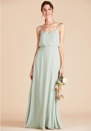 Birdy Grey Gwennie Bridesmaid Dress in Sage V-Neck Bridesmaid Dress
