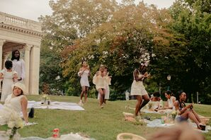 Guests at Picnic Wedding at Prospect Park in Brooklyn