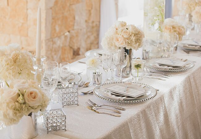 ivory reception tables | Luxury Estate Weddings & Events | Blog.theknot.com