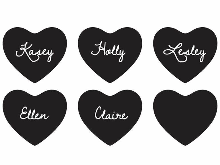 chalk heart stickers
