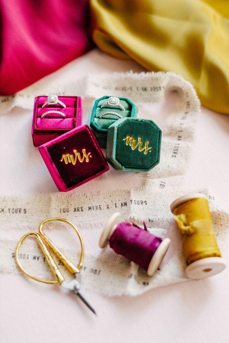 Velvet Ring Box in Bright Jewel Tones