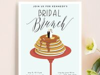 Pancake bridal shower invite