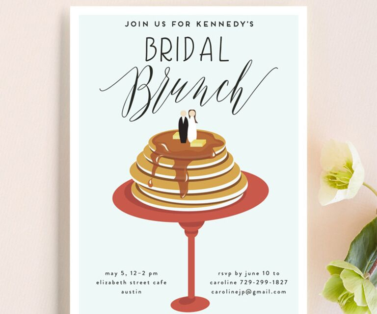 pancake bridal shower invite