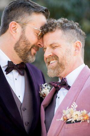 Couple in Purple Bow-Ties at the Everhart Museum in Scranton, Pennsylvania