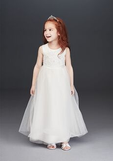 David's Bridal Flower Girl David's Bridal Style OP263 White Flower Girl Dress