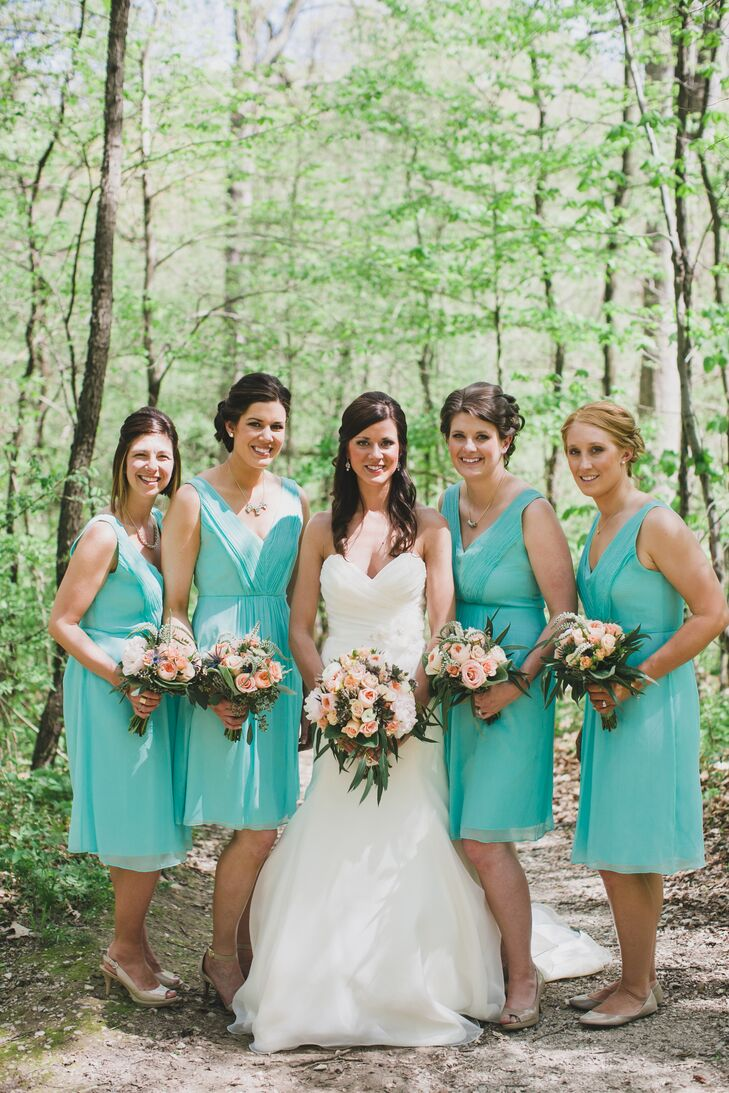 caae4df3b79 Seafoam Green Bridesmaid Dresses. Favorite.