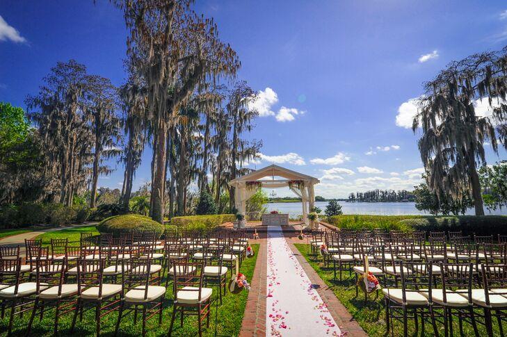 Cypress Grove Estate House Outdoor Ceremony Decor