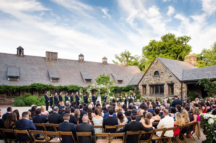 Formal Outdoor Ceremony at Blue Hill Farm at Stone Barns in Tarrytown, NY