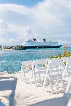 Casual Beach Wedding with Disney Cruise