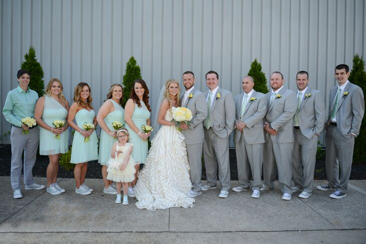 And Shoes Wedding Converse Gray Party With Mint 34ARL5qScj