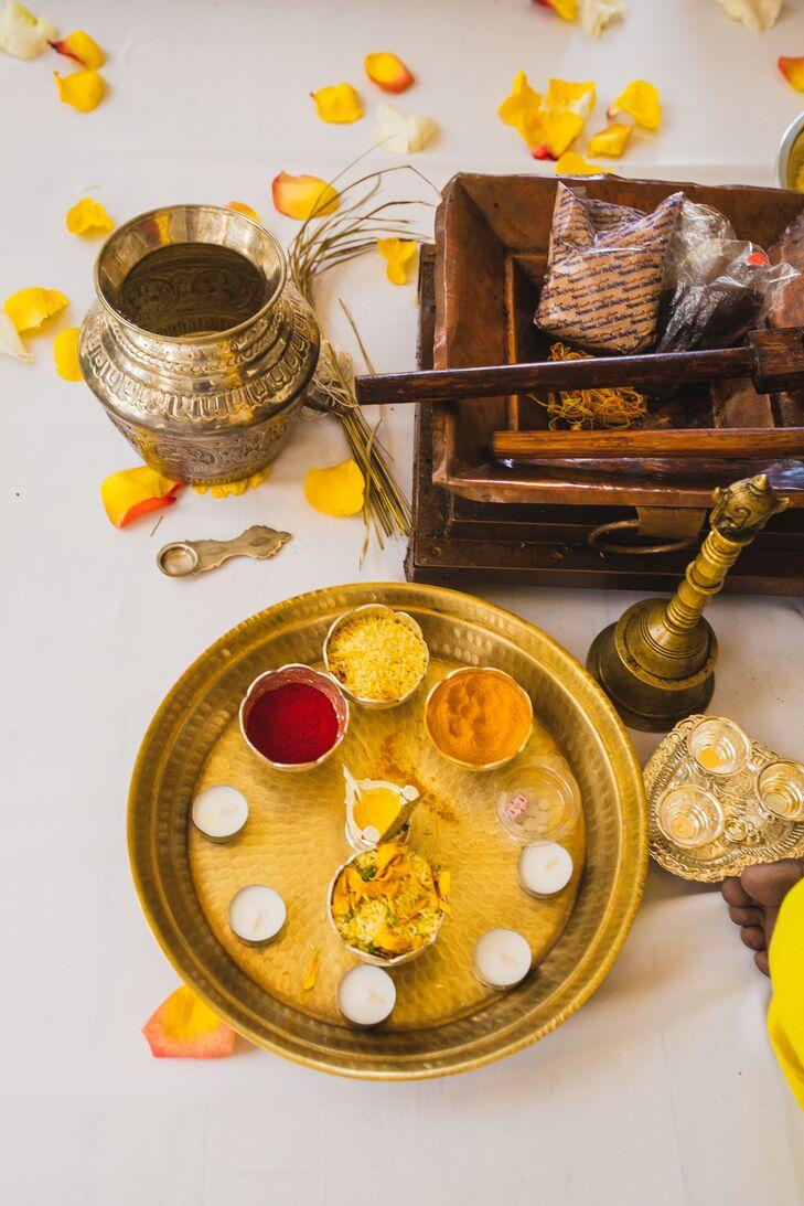 Traditional Hindu Wedding Ceremony Preparation in Chicago