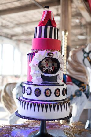 Carnival-Themed 5-Tier DIY Wedding Cake