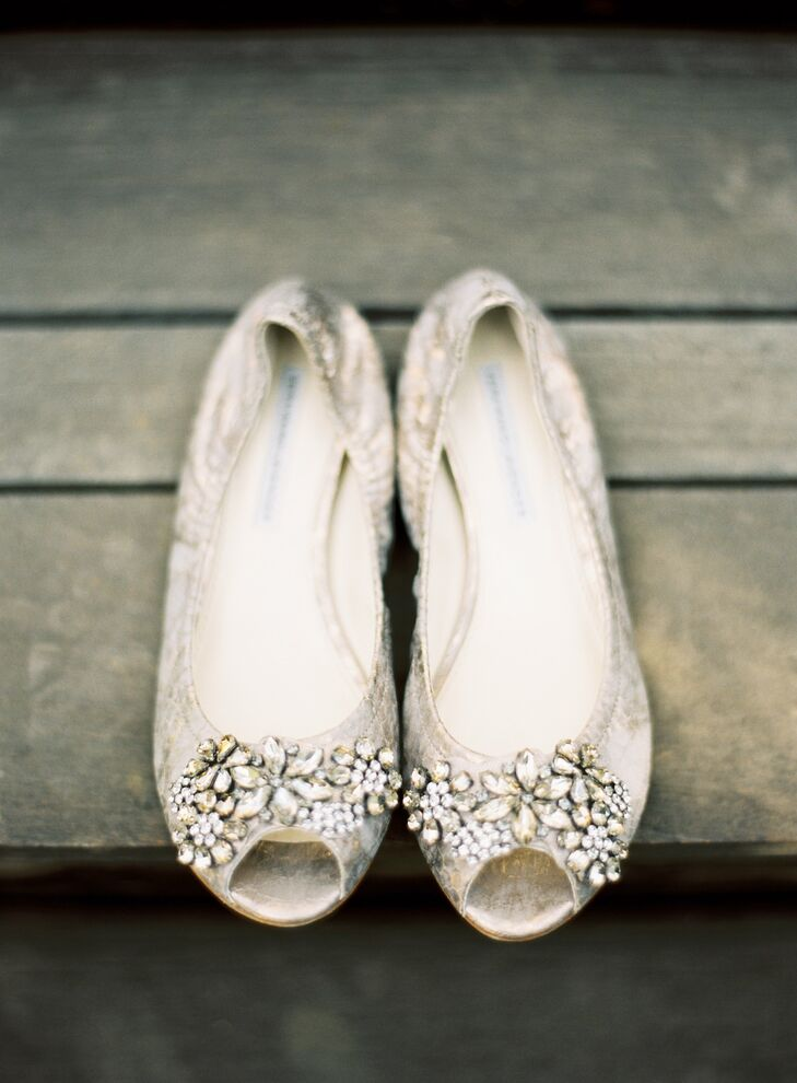 5932c8006e9c Peep Toe Wedding Flats