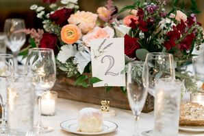 Table Number with a Lavender Illustration