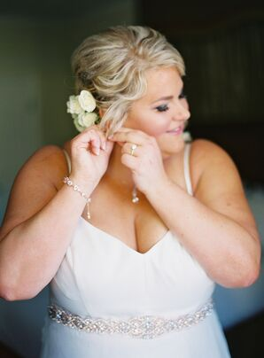 Bride Getting Ready for Wedding at Carneros Inn in Napa, California