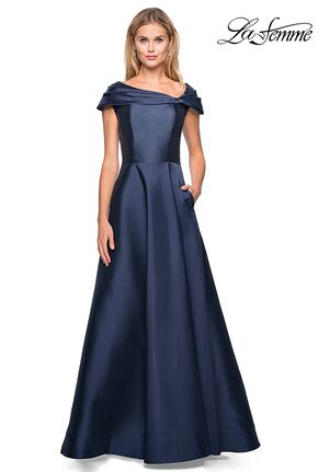 La Femme Evening 26877 Blue Mother Of The Bride Dress