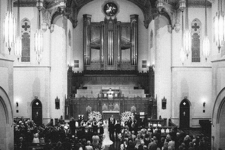 Ceremony at St  Paul's United Methodist Church in Houston, Texas