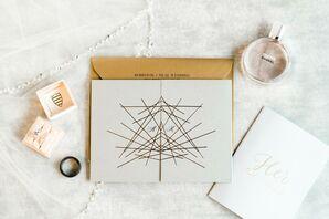 Modern Wedding Invitations with Geometric Design