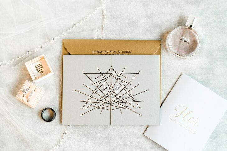 Modern Wedding Invitations with Geometric Design