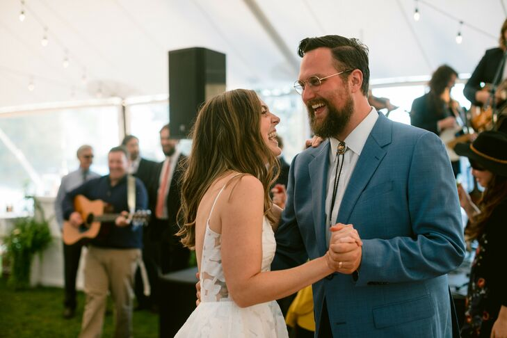 Couples Shares First Dance Under Tent in Michigan