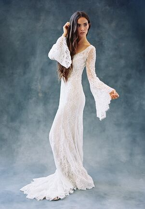 Wilderly Bride Sage Sheath Wedding Dress