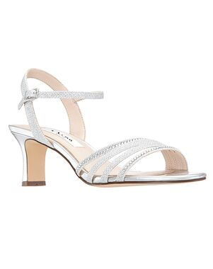 Nina Bridal Nelena Silver Shoe