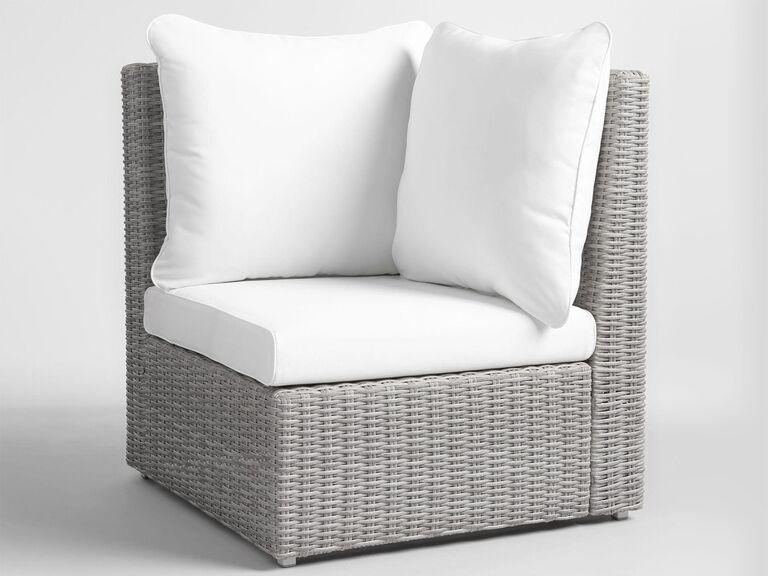 World Market Veracruz outdoor sectional corner chair