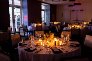 Candlelit Round Dining Tables