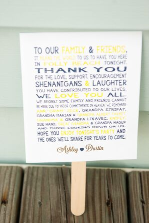 Nautical Yellow and Navy Ceremony Program Fan
