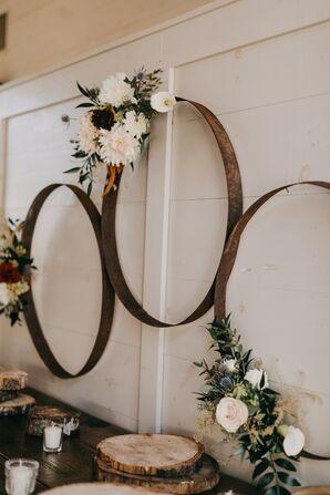 Rustic Metal Hoop Décor with Flower Arrangements