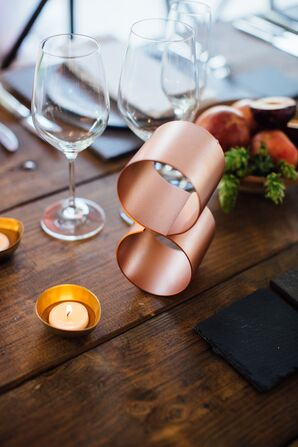 Modern Copper Table Numbers