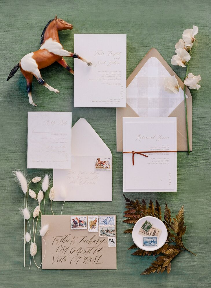 Rustic Invitation Suite for Wedding at Vista Valley Country Club in California