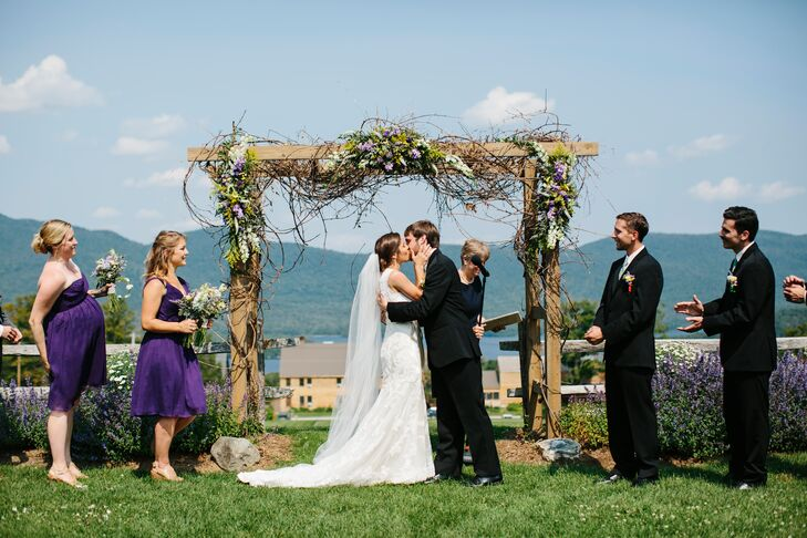 Outdoor Ceremony under Rustic Arch