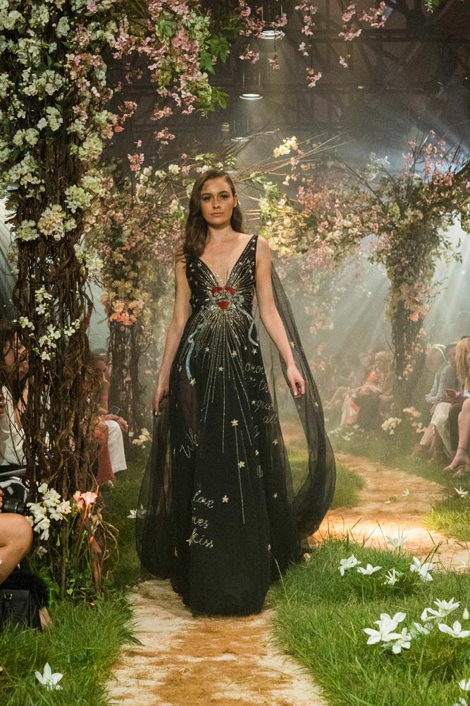 Paolo Sebastian Disney gowns black gown