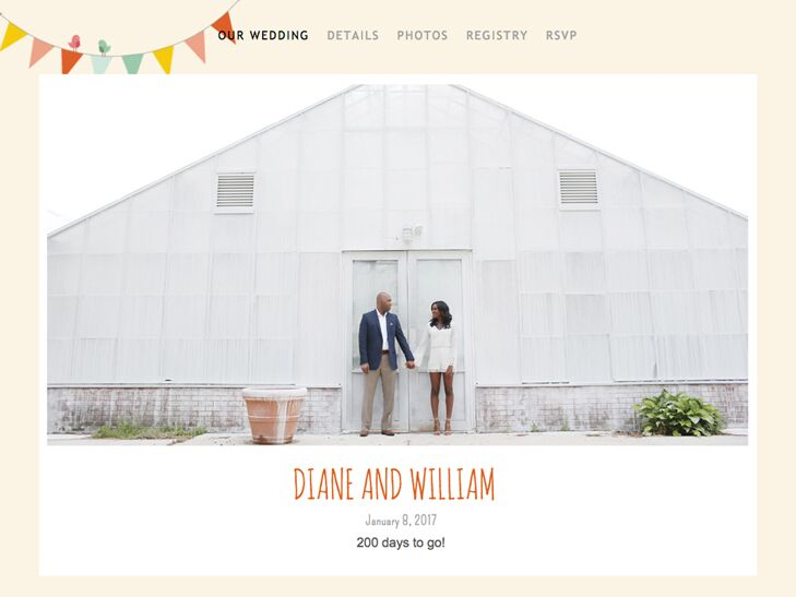 The Knot personalized wedding website