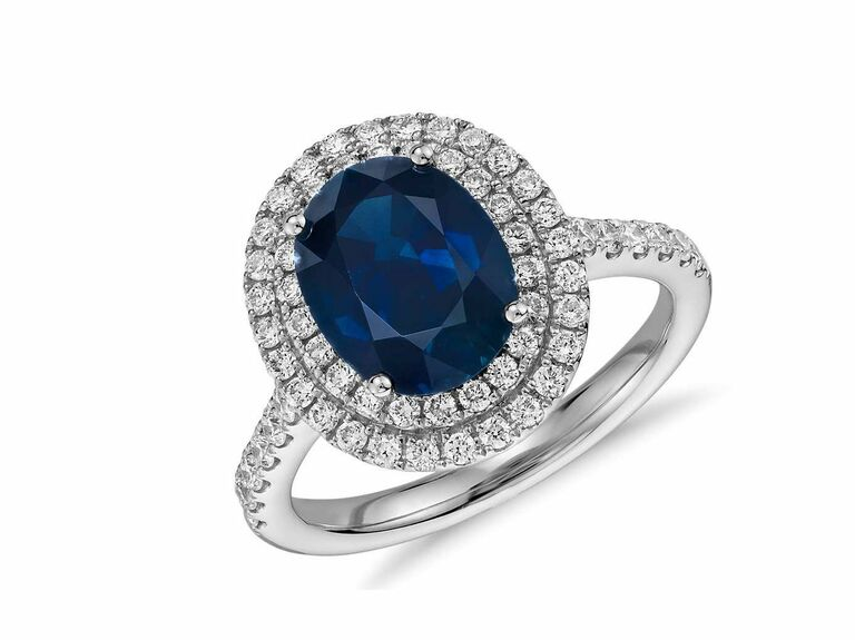Blue Nile sapphire engagement ring