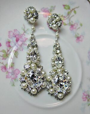 Everything Angelic Jaime Chandelier Earrings - e286 Wedding Earring photo