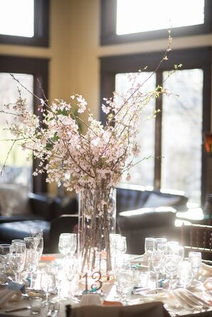 Cherry Blossom Wedding Flower Arrangements