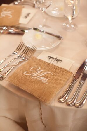 Personalized Wedding Place Settings