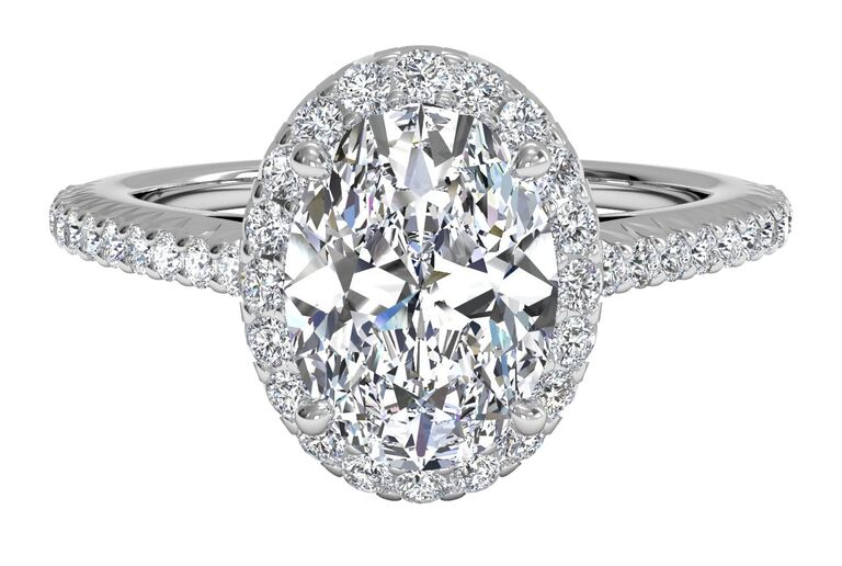 ritani halo oval engagement ring