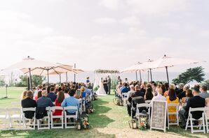 Simple, Modern Beach Ceremony