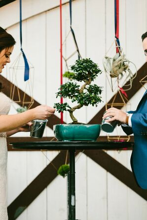 Tree Planting Ritual During Texas Wedding Ceremony